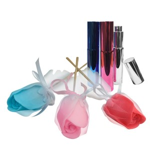 Perfumero Metal Colores  + Rosa de Jabón