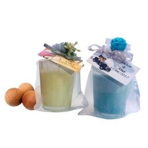 Velas Aromáticas + 3 Bolas de Madera Perfumadas