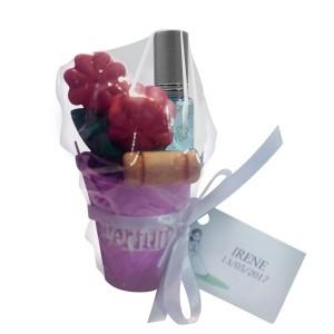 Cubo con Flores de Jabón + Perfumero
